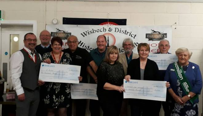 WDHVC presents cheques to local good causes